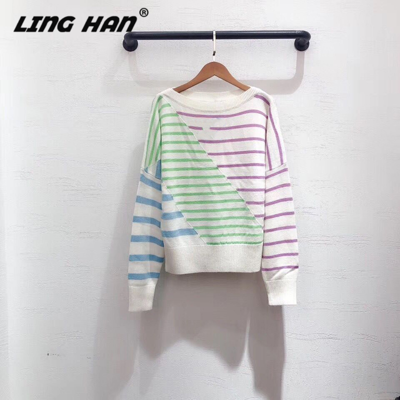 LINGHAN Wool Pullovers Fashion High Quality Knitted Cashmere Sweater Top Soft Warm Women's Sweater Autumn And Winte New