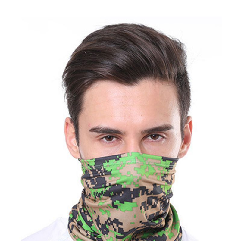1pc Cycling Hiking Scarves Outdoor Sports Multifunctional Neck Mask Windproof Dustproof Rashguard Breathable Seamless Bandanas 3