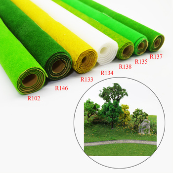 2pcs HO O N scale 0.5×2.5m grass mat scale model grass carpet for architectural model making scenery train layout