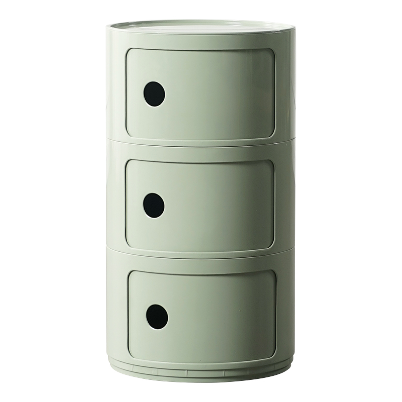 Nordic Net Red Bedside Table Modern Simple Round Small Cabinet Mini Creative Plastic Side Cabinet Multi-layer Lockers Multicolor