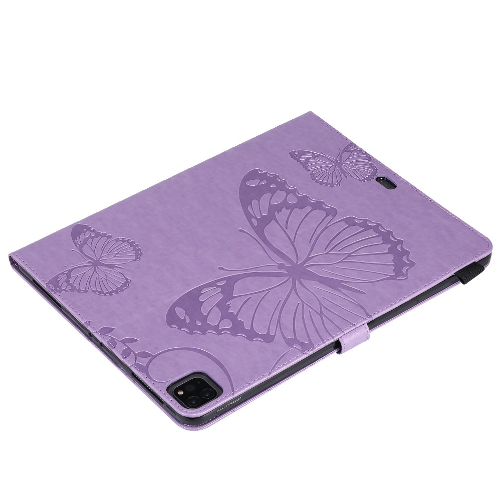 Folio Cover iPad Case Tablet 2018 12.9 Embossed 2020 Butterfly Folding For Pro Fundas