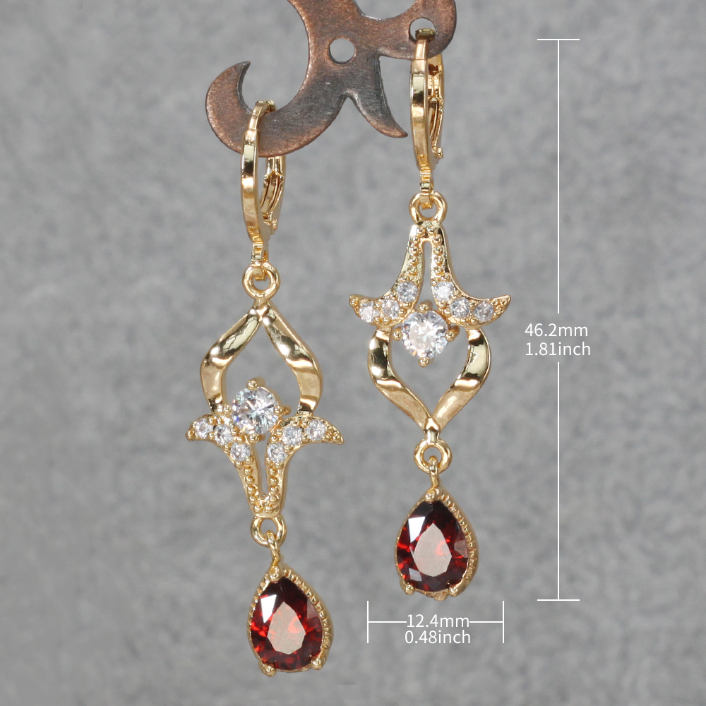 Hdf27c89cfa7741d49fe8859f0b745e11r - Trendy Vintage Drop Earrings For Women Gold Filled  Red Green Pink Lavender Zircon Earrings Gold  Earring Wedding  Jewelry