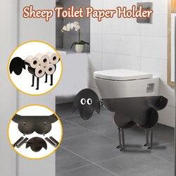 30 # Черный овец кошка собака держатель для туалетной бумаги Бумага Ванная комната железа хранения стоячий ремесла рулон Бумага Полотенца де...