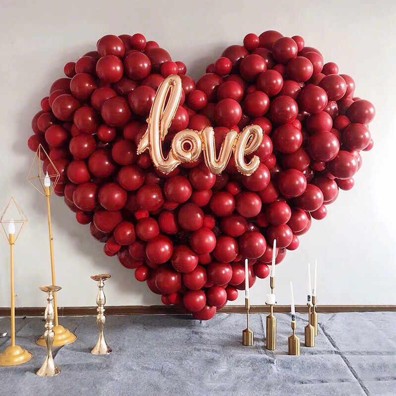 10 pçs rubi vermelho balões confetes balões safira metálico dourado balões cromo metálico látex balões casamento aniversário parte