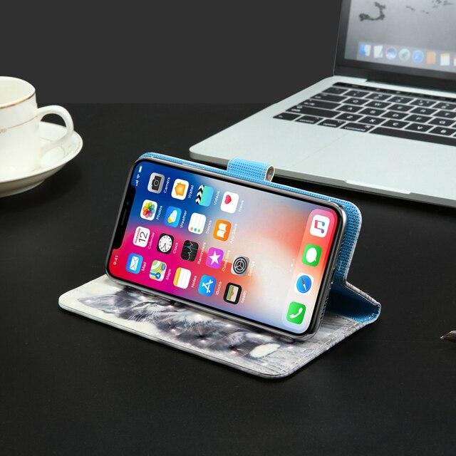 3D flip wallet Funda de cuero para Alcatel PULSEMIX U5 3G 4047 4G HD 5044 5047D Flash 2 A2 XL 8050D Idol 4 6055K de la caja del teléfono