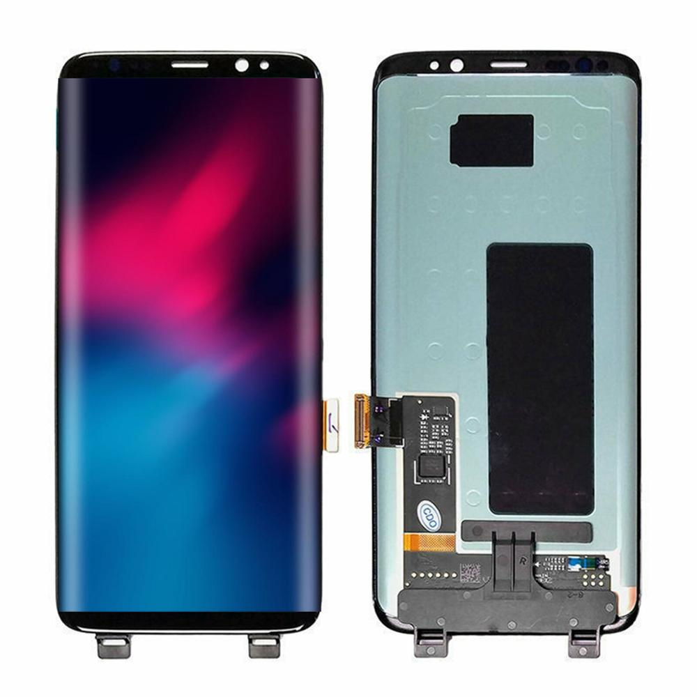 100% Super Amoled Original With Frame LCD For Samsung Galaxy S8 G950f LCD Display+Touch Screen Digitizer With Spot Assembly