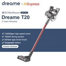 Dreame t20 handheld aspirador de pó sem fio 25kpa forte sucção portátil tudo em uma escova coletor pó chão tapete