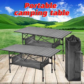 Stół kempingowy stół składany stół plażowy na zewnątrz składany stół składany stół kempingowy stół ogrodowy składany stół kempingowy tanie i dobre opinie NoEnName_Null CN (pochodzenie) Portable folding table outdoor tables 50kg-80kg L188cmW65cmH(54-74cm) L22cmW13cmH66cm 6 06kg