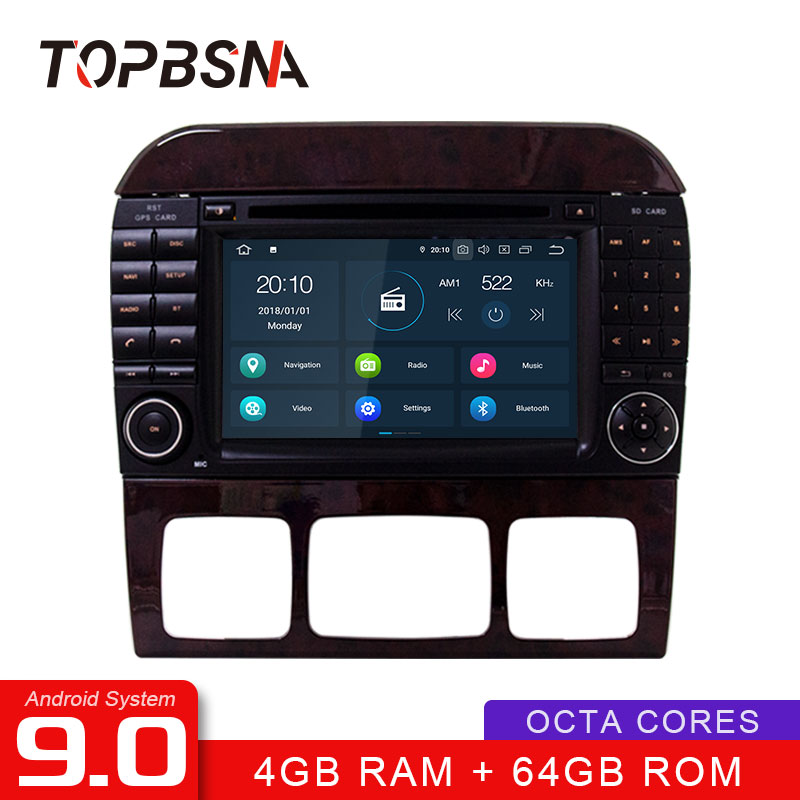 TOPBSNA 2 din Android 9.0 Car Multimedia Player For Mercedes <font><b>Benz</b></font> S-Class <font><b>W220</b></font> W215 S280 S320 S350 <font><b>S500</b></font> WIFI GPS Car Radio video image