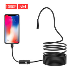 1080P Full HD USB Android Endoscoop Camera IP67 1920*1080 1M 2M 5M Micro Inspectie video Camera Snake Borescope Tube(China)