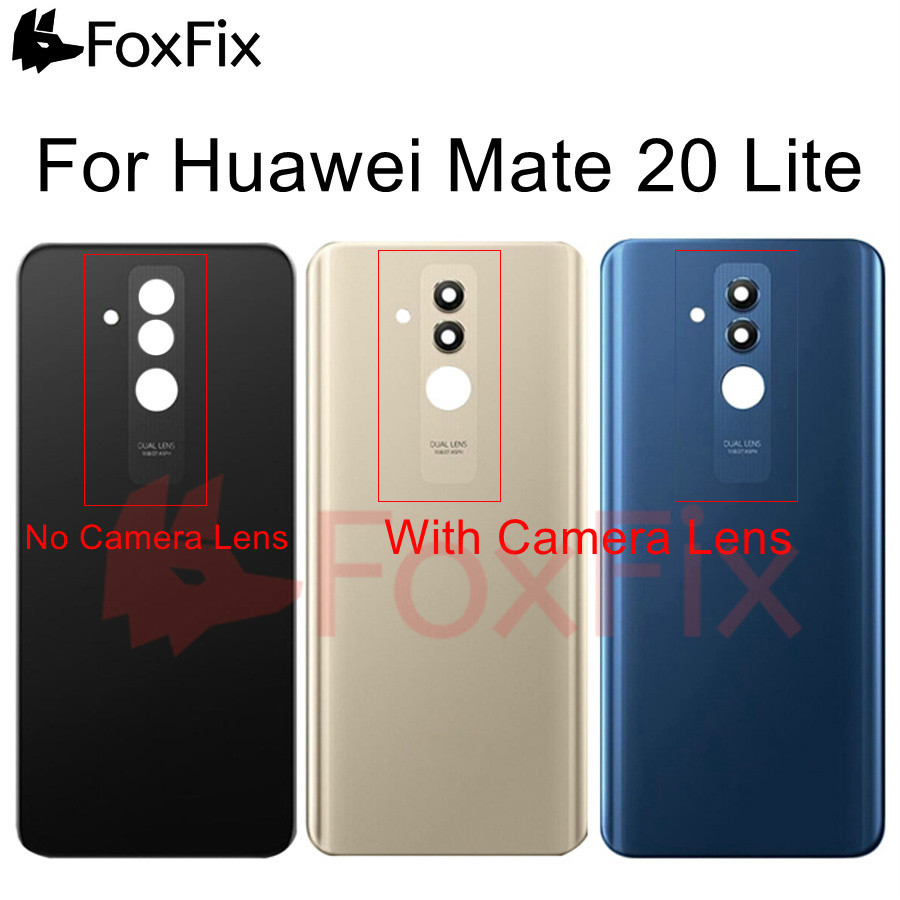 For Huawei Mate 20 Lite Back Battery Cover Glass Rear Panel Housing Door Case+Camera Lens For Huawei Mate20 Lite Back Cover