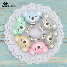 LOFCA 1PC Koala Shaped Silicone Clip For Baby Pacifier Holder Baby Teether Teething Accessories Clip Nipple Clasps Toy DIY Tools(China)