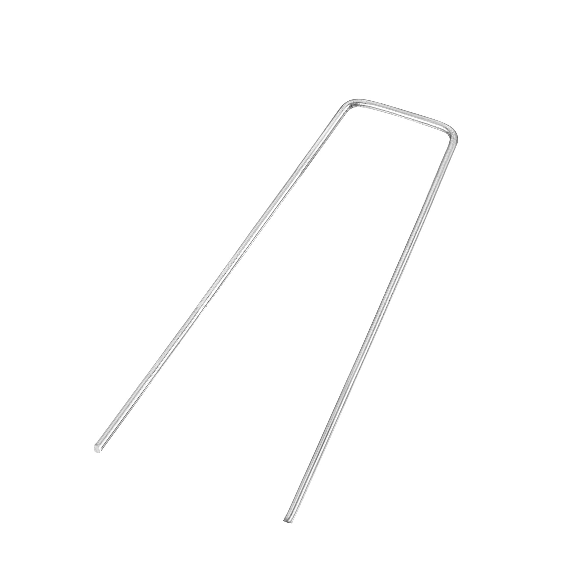 uxcell U-Shaped Garden Stakes, Galvanized Landscape Staples U Pins Anchor Fence Pegs, 150x40mm(LxW) 3mm Rod Dia Square 30pcs