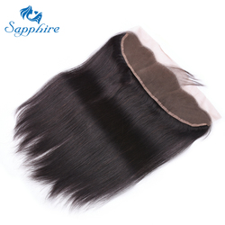 Brazilian Straight Lace Frontal 13X4 Ear To Ear Free Part Remy Brazilian Human Hair Clear Lace Closure Natural Color 10-20 Ines
