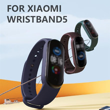Armband Riem Voor Mi Band 5 Miband 5 Global Accessoires Sport Polsband Vervanging Voor Xiaomi Mi Band 5 Smart Armbanden(China)