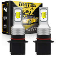 BMTxms 2 uds Canbus sin Error P13W SH23W PSX26W bombillas LED vehículo DRL conducción coche con luces antiniebla frontal blanco cristal dorado azul