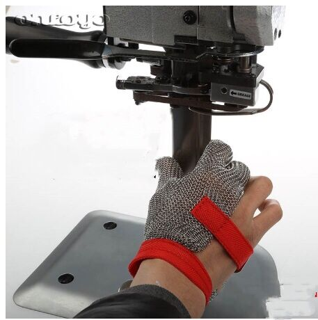 Stainless Steel Metal Mesh Steel Chain Mail Protective Gloves Meat Cut Glvoe Butcher Glove Three Finger Type