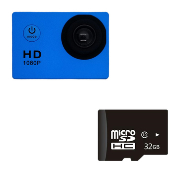 1080P HD Mini Action Camera 12MP Wireless IP Camera Camcorder 30m Waterproof DV Sports Cam CCTV Night Version Human Tracking 8