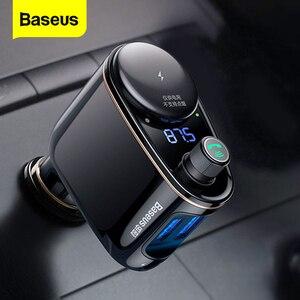 Image 1 - Baseus USB Chargerเครื่องส่งสัญญาณFMสำหรับiPhone Xiaomi AUX MP3 FM Modulator Dual USBรถชาร์จสำหรับโทรศัพท์มือถือ
