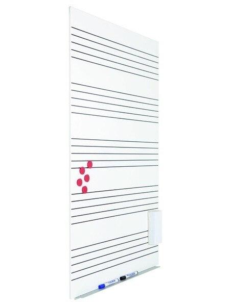 SLATE WHITE SKINMUSIC 75X115cm LACADA WHITE WITH PENTAGRAMA