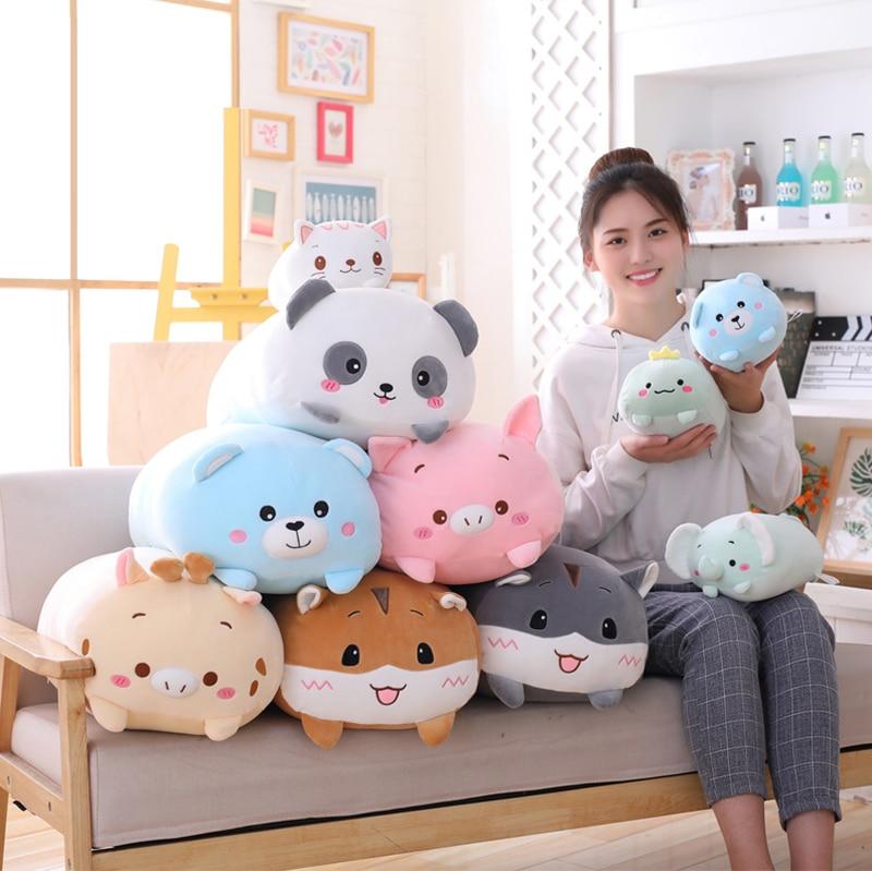 Animal Sweet Dinosaur&Pig&Cat&Bear Kawaii Plush Toy Soft Cartoon Panda&Hamster&Elephant&Deer Stuffed Doll Baby Pillow Gift Toys