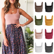 Cropped Tee Underwear Vest Lingerie Camisole Women's Top Knitted Cotton Tank Fashion