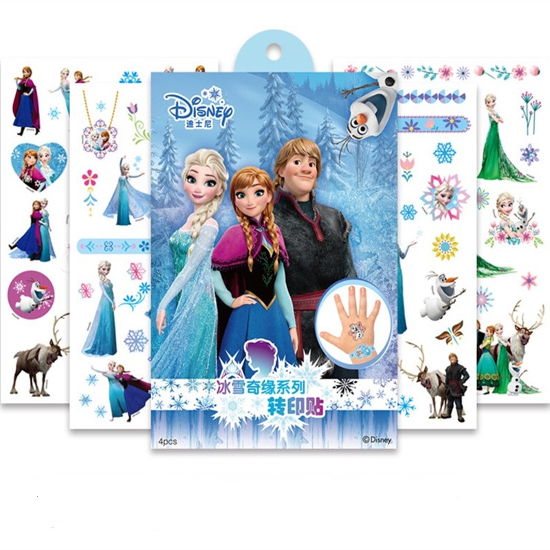 4Pcs/set Disney Frozen 2 Toy Story 4 Child Tattoo Sticker Children's Decorative Toys Birthday Gift Christmas Gift