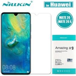Nillkin Huawei Mate 20 X szkło 9H twarde jasne ochraniacz ekranu ze szkła hartowanego dla Huawei Mate 20/20X szkło bezpieczne nillkin Film