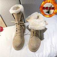 botas mujer invierno 2019 new fashion winter cotton-padded shoes  customers with extra velvety snowboots women zapatillas mujer