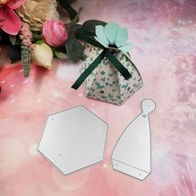 Conical Candy Box Metal Cutting Dies Stencil Scrapbooking DIY Album Stamp Paper Card Embossing Decor Craft leaf lantern metal cutting dies stencil scrapbooking diy album stamp paper cards embossing decor craft art new dies for 2020