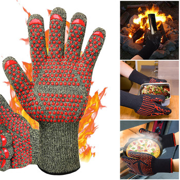 Silicone Multi-Purpose Mitts Baking BBQ Grill Glove Extreme Heat Resistant Oven Sleeves Kitchen Outside Barbecue Grilling Tools