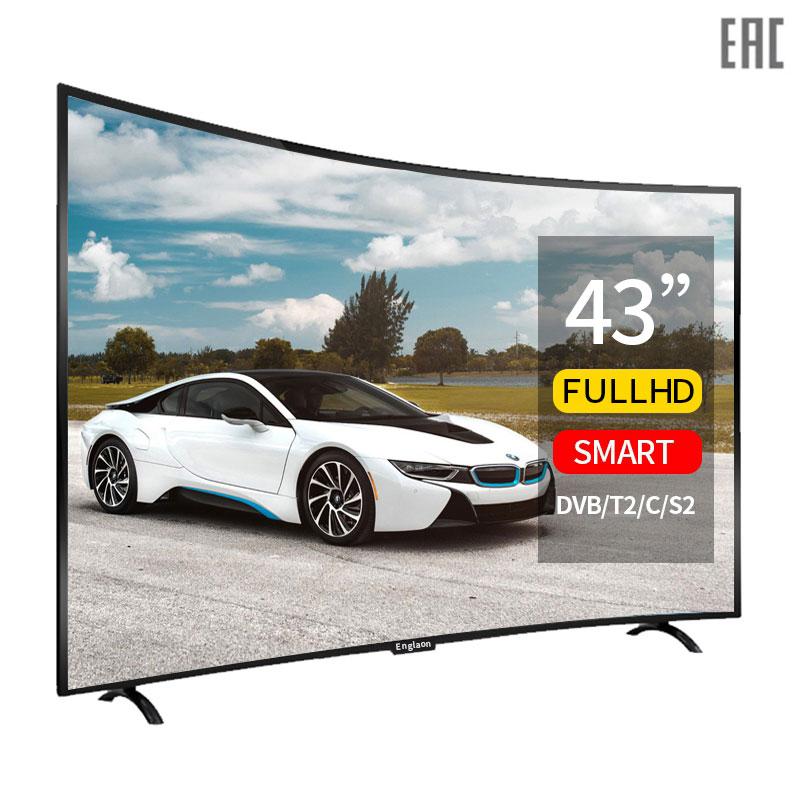 Телевизор 43 дюйма смарт тв Изогнутый экран Android 7.0 Цифровое Телевизоры