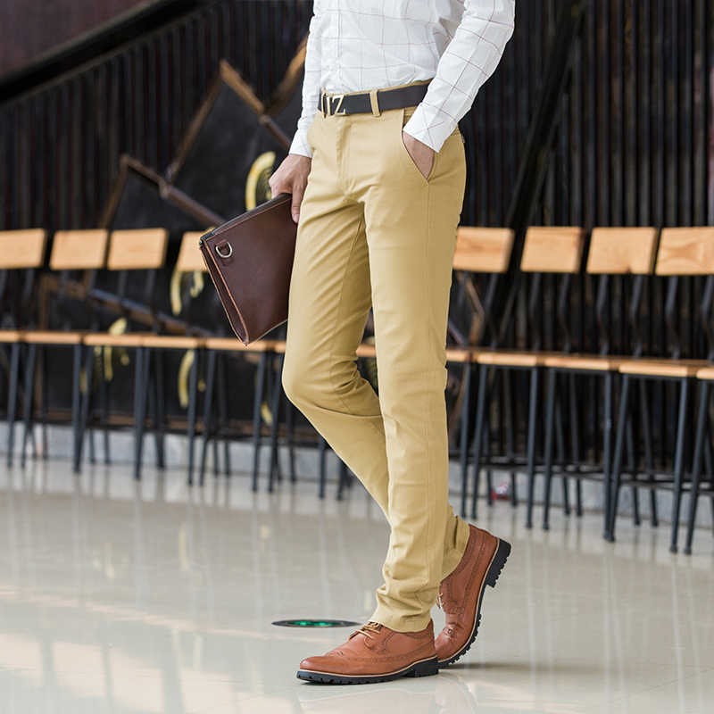 Men's Classic Casual Khaki Pants Men