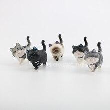 цена Anime Cat Bells Cute Orange Cat Neko Kitty Pet Model Doll Plump Kitten Walking With Round Balls Kid Toy Gifts Decoration Figure онлайн в 2017 году