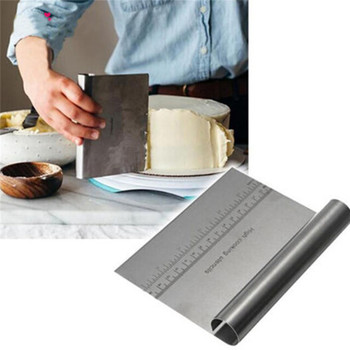 Stainless Steel Dough Scraper Cutter Baking Pastry Spatulas Pizza Dough Scraper Cutter Cake Cutting Tools Kitchen Accessories stainless steel pizza dough scraper baking pastry spatulas fondant cake decoration tools kitchen accessories