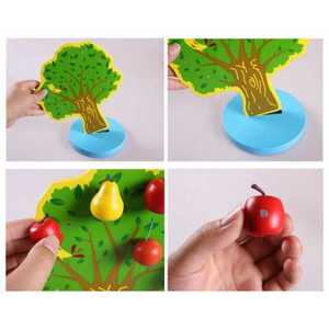Image 5 - Montessori Wooden Magnetic Apple Pear Tree Math Toys Early Learning Educational Wooden Toys for Children Boys Birthday Gifts