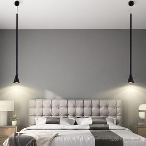 Скандинавский минималистичный светодиодный подвесной светильник s с длинной полосой, декор для гостиной, дома, спальни, прикроватный подве...