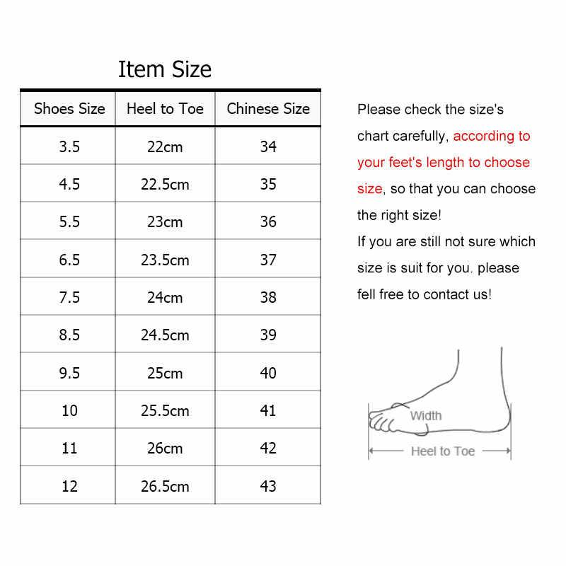 בתוספת גודל 35-43 נשים ופרס צבעים בוהקים רדוד נעלי אישה דירות נעליים יומיומיות נוח סבתא נעלי Zapatos Mujer