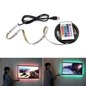 Image 1 - Đèn Ngủ LED Dây DC5V Có Cổng USB Cáp 50CM 1M 2M 3M 4M 5 USB dây ĐÈN LED ánh sáng đèn SMD 3528 cho TV/MÁY TÍNH/Laptop