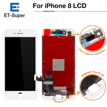 50Pcs/Lot LCD For Apple iPhone 8 AAA Display+Touch Screen Digitizer Assembly with 3D Touch No Dead Pixel Pantalla Ecran Free DHL