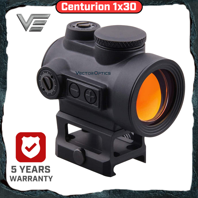 Vektör optik Centurion 1x30 kırmızı nokta görüşü taktik kapsam geniş açı görüş 20,000 saat çalışma süresi tüfek hava tabancası av tüfeği