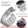18mm 22mm 20mm 24mm Band For SAMSUNG Galaxy Watch 42 46mm galaxy watch 3 45mm 41mm  Stainless Steel For Amazfit Bip GTR straps 2