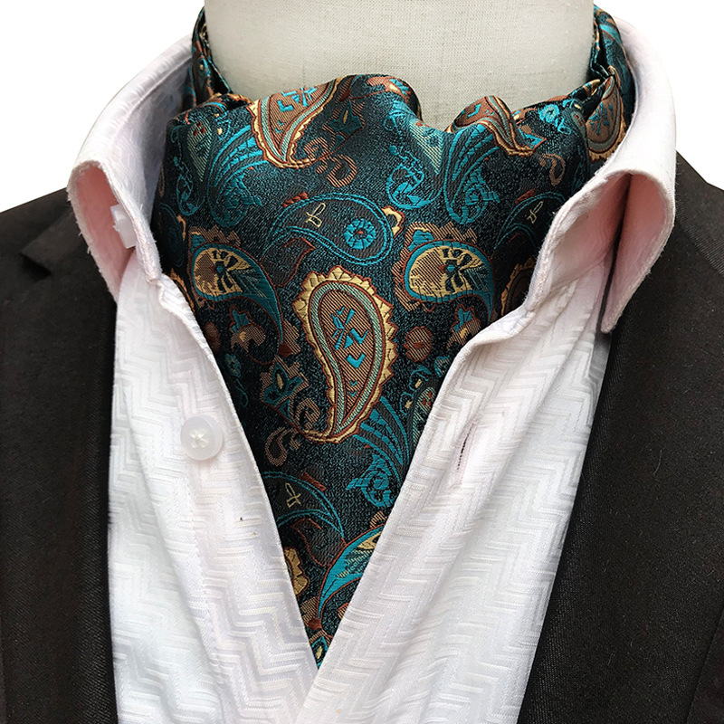 New Formal Stripe Business Tie Fashion Big Pattern Bib Tie Paisley Business Men Scarf Party Dress Gown Paisley Ol Tie