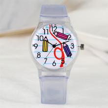 Kreatywne przezroczyste silikonowe zegarki dla dzieci chłopiec dziewczyny zegarki na rękę moda dla dzieci zegarek tanie tanio YISUYA 3Bar Moda casual QUARTZ RUBBER Klamra Akrylowe 22cm Nie pakiet 28mm children watches ROUND 19mm 11mm Brak Reloj de los ninos