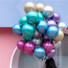 10pcs 12 inch silver gold Latex Balloons Metallic Metal Beads Gold Colors Birthday Party Wedding Supplies Balloon