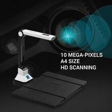 Aibecy BK50 Портативный 10 мегапиксельный сканер для книг высокой четкости сканер документов с тарелка из твердого пластика для A4 файл сканер
