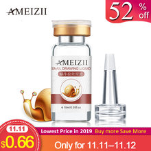 AMEIZII Snail Essence Hyaluronic Acid Serum Whitening Lifting Firming Essence Anti-Aging Skin Care Repair 1Pcs(China)
