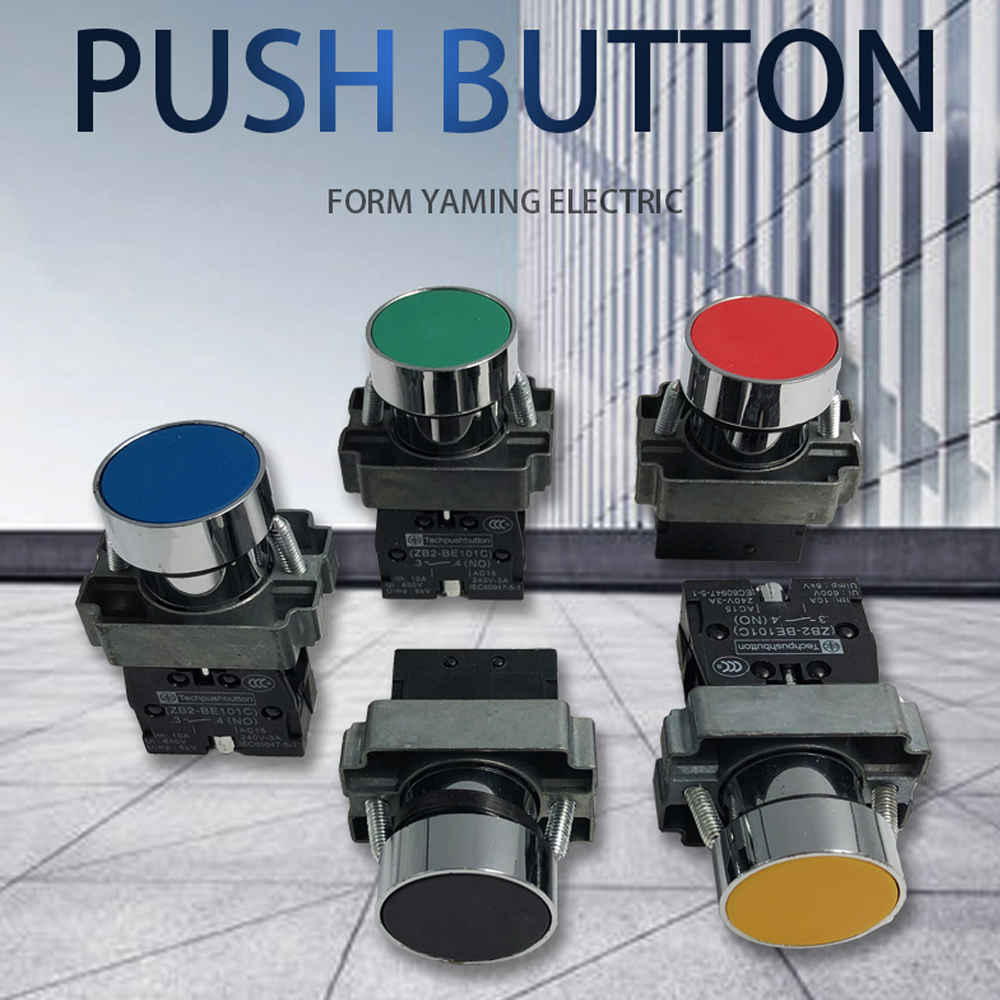 P47 Momentary Push button switch 22mm 10A 240V~3A Circular small size Flat round Panel NC/NO XB2-BA31 XB2-BA42