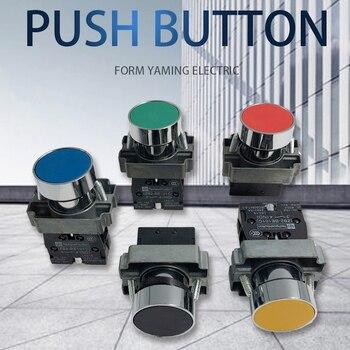 цена на P47 Momentary Push button switch 22mm 10A 240V~3A Circular small size Flat round Panel NC/NO XB2-BA31 XB2-BA42