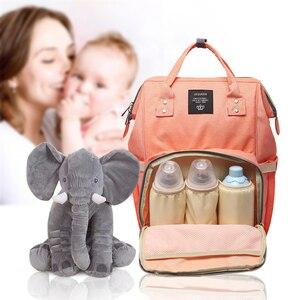 Image 1 - Lequeen Mode Mumie Mutterschaft Tasche und elefanten Große Kapazität Baby Tasche Reise Rucksack Designer Pflege Tasche für Baby Pflege